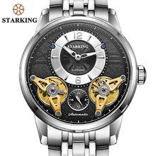 Starking европейские модные автоматические часы с двойным турбийоном