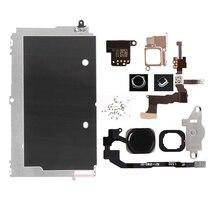 Juego completo de piezas de repuesto LCD para iPhone 5G 5C 5S botón de inicio + altavoz + Cable + cámara frontal, piezas de repuesto