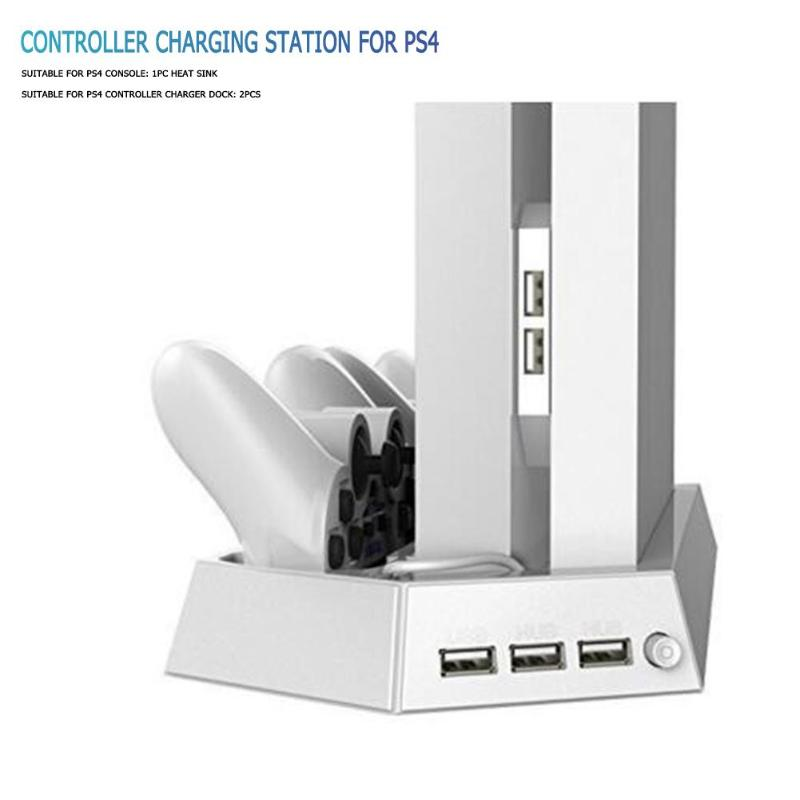 Vertical Stand Cooling Fan for PS4 Controllers Multi Dual Charging Station Charger Game Console Cooler for PS4 Game Accessories