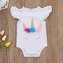 Baby Girls' Cute Unicorn Romper