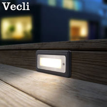Outdoor waterproof stair light led step lighting Fixtures embedded square park corner lamp foot wall sconce(China)