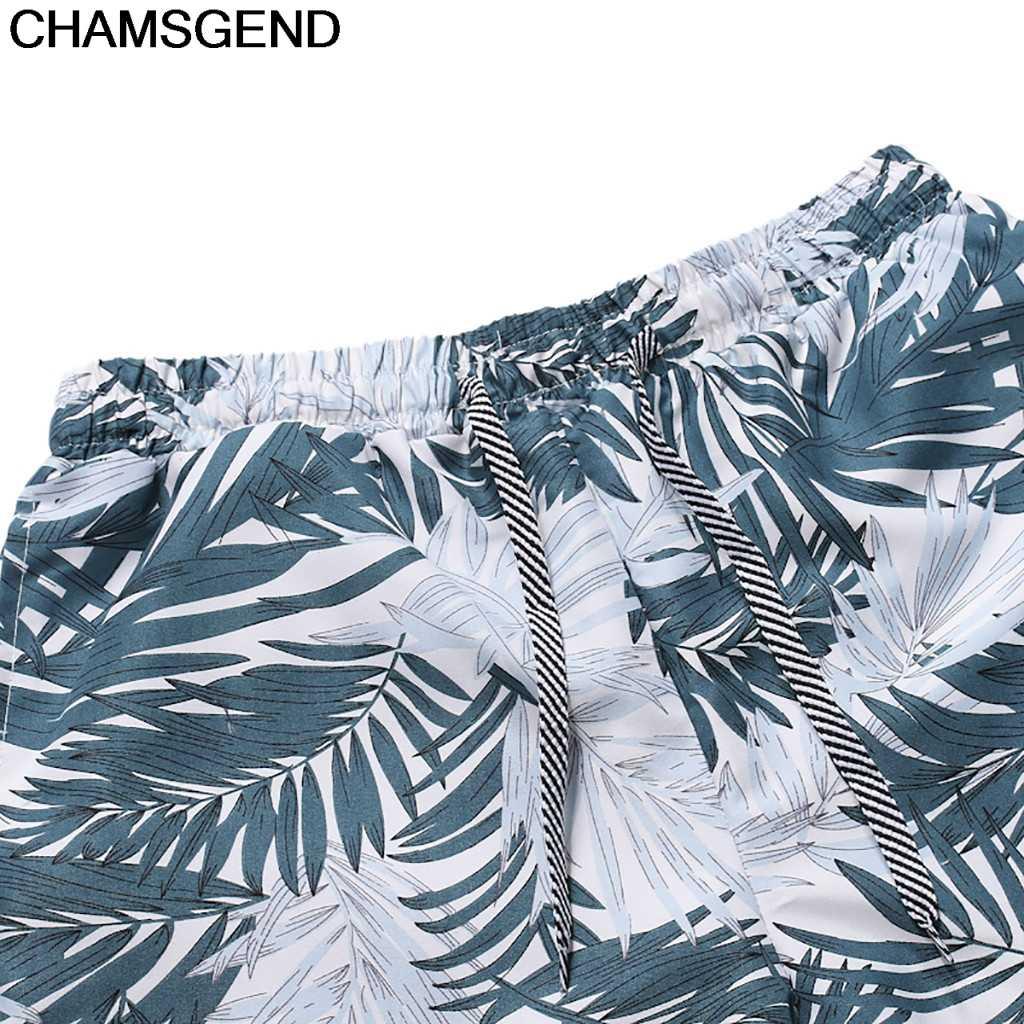 CHAMSGEND Shorts para Hombre Pantalones cortos de verano de secado rápido estampado Siwmwear Beach Board Briefs para hombres bañadores de natación Beach Surfing Wear 4. Aprr17