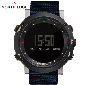 Image 2 - Esporte masculino relógio digital bandas de náilon horas running impermeável 50 m natação esporte relógios altímetro barômetro bússola masculino cor