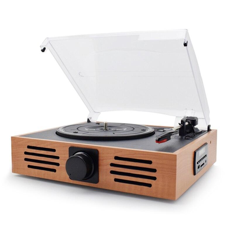Здесь продается  Latest HiFi 3-Speed Home Phono Turntables LP Vinyl Recorder Player Built-in Stereo Speakers USB/SD Card Playing and Recording  Бытовая электроника