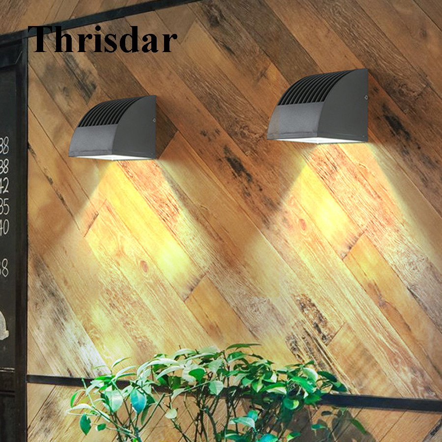 Thrisdar 10W 20W Outdoor Balcony Stairs Engineering Villa Wall Light Waterproof Corridor Garden Aisle Hotel Porch Wall light thrisdar 20w ip65 waterproof wall lamps 40leds outdoor garden porch wall sconce lamp corridor garden hotel pathway porch light