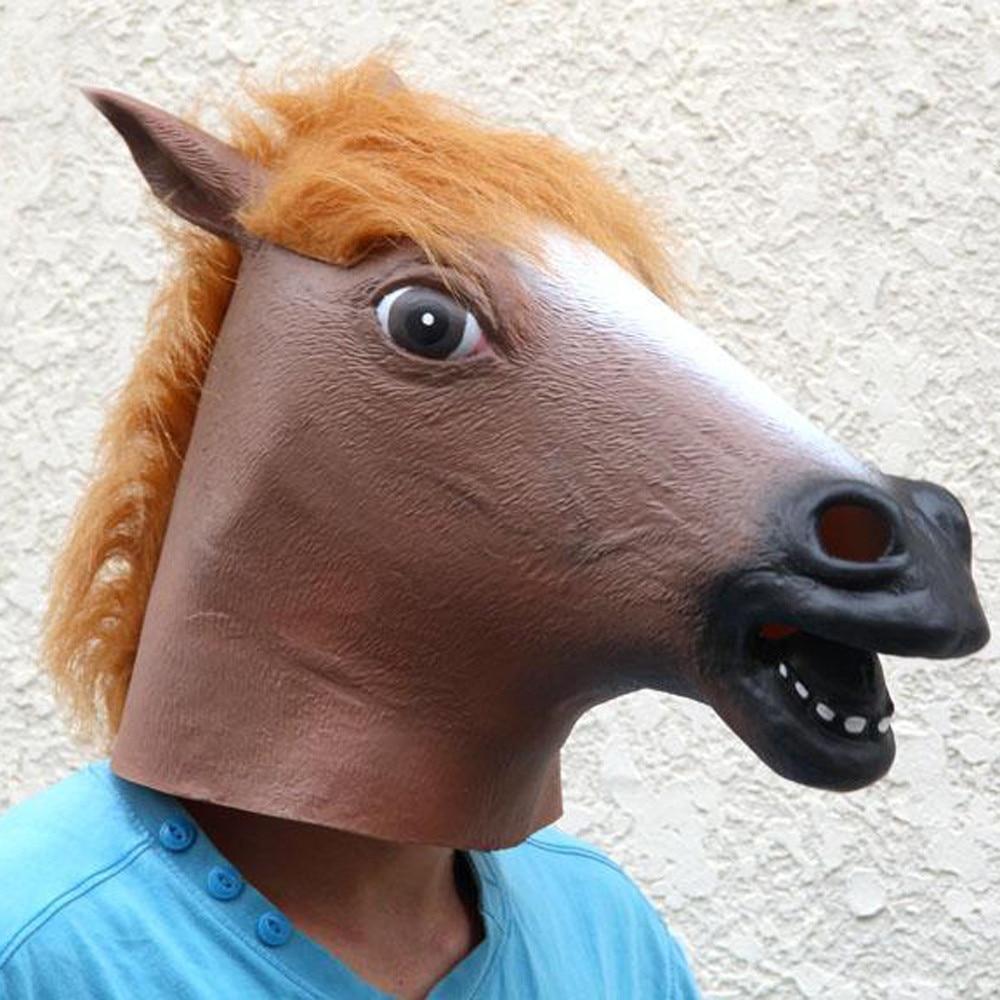 US $15 43 OFF الجدة رأس الحصان الكامل هالوين الحزب قناع اللاتكس قناع تنكر قناع ØªØ£Ø ÙŠØ±ÙŠ دعامة صعبة إمدادات حفلة تنكرية زي في الجدة رأس الحصان الكامل