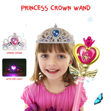 2018 Music Magic Wand Ornaments Sets Box as Xmas Gifts for Kids Cosplay Fairy Glow Stick Toys nice Xmas present top Quality(China)