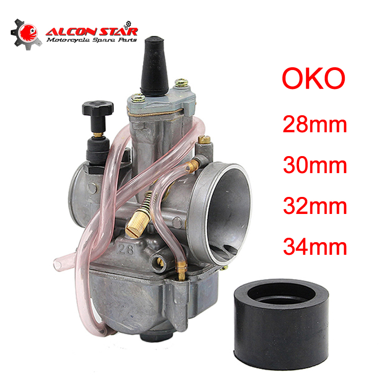 Alconstar 28mm 30mm 32mm 34mm OKO PWK Motorcycle Carburetor with Power Jet Carb 2/4 Stroke Scooter Dirt Pit Bike ATV JOG DIO