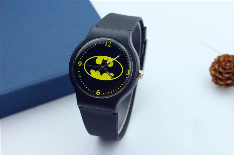 Ot01 Hot Children Watch Kids Cartoon Batman Wristwatch Cool Rubber Table Watches For Children Boy Girls Buy One Get One Free Children's Watches