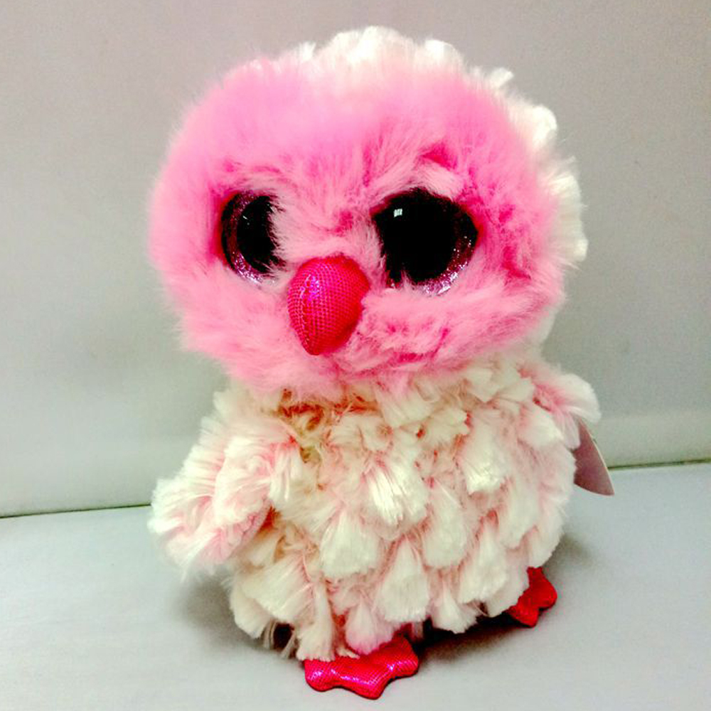 ee3c629c499 2019 Pyoopeo Ty Beanie Boos 6 15cm Twiggy The Pink Owl Plush Regular ...
