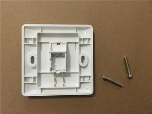 1 порт двойной RJ45 настенная лицевая пластина/Лицевая панель сети LAN Cat5e/6 Новый