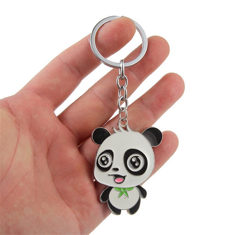 Cute Bear Dog Leather Tassel Key Ring Car Bag Mini Charm Keychain Lovely Gifts