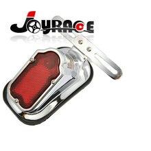 Ultra Bright Aluminum Chrome Integrated Brake Stop Rear Indicators License Bracket Tail Light for Harley Davidson