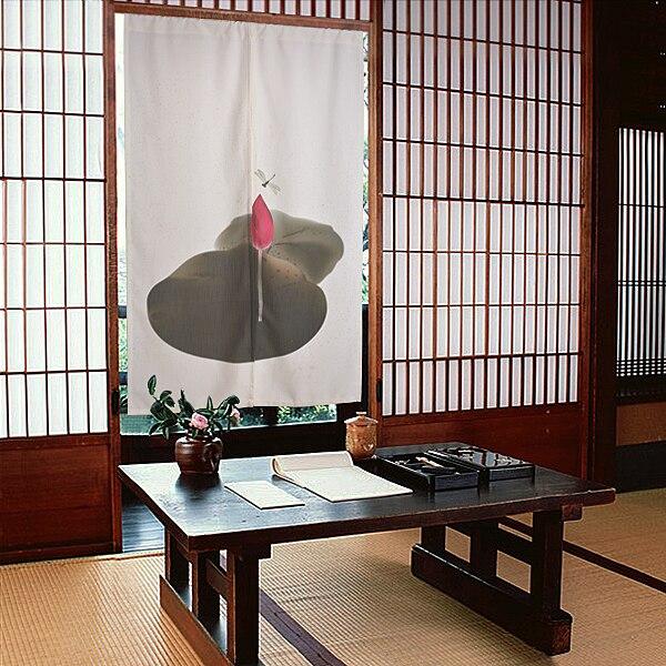 Красивые занавески, классический китайский стиль, цветы/зеленые холмы, занавес для двери, черная спальня/кабинет, занавес для двери, перегор