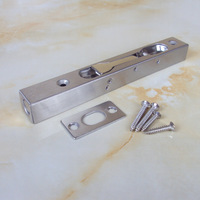 6 Inch Security Sliding Door Latches Locks With Screw Fire Door Latch Dark Plug For Window