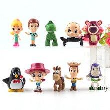 10 unids set Mini juguetes Toy Story Rex Bullseye Lotso Jessie Woody Buzz  Lightyear juguetes acción figura PVC colección modelo . 9d0d2395c70