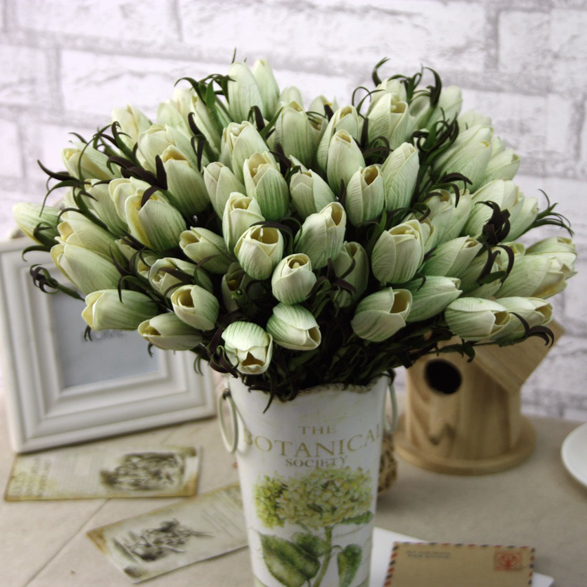 24pcs manufacturers supply the beam pastoral simulation tulip flower 24pcs manufacturers supply the beam pastoral simulation tulip flower wholesale artificial flower silk flower export trade in artificial dried flowers from mightylinksfo