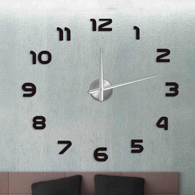 Big Hours Large Decorative Wall Clock Modern Design Diy