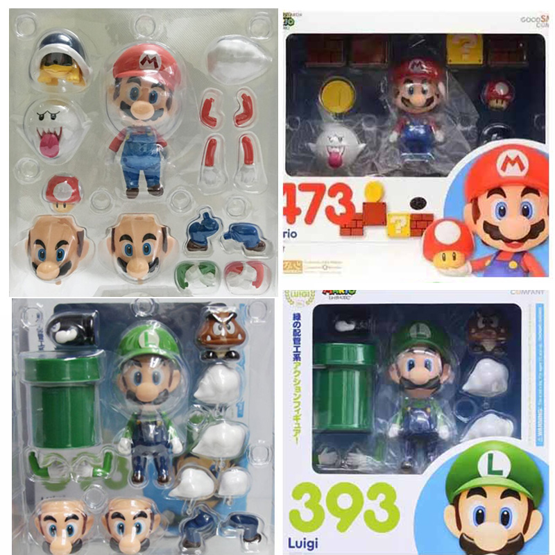 Nendoroid 473 Super Mario Mario Figure Good Smile Company Action Figure KO Toy