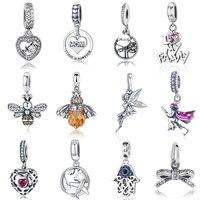 Heißer Verkauf Echte 100% 925 Sterling Silber Anhänger Charme Baumeln Fit Original Armband Halskette Authentische Perlen Schmuck MAMA Geschenk