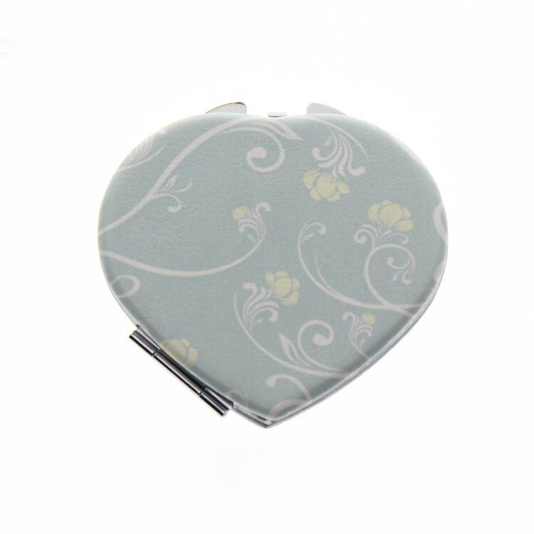 Spiegel 7*6.5cm Herzform Doppelseitig Edelstahl Espejos De Bolsillo Espelho De Bolso Miroir De Poche Personalisierte Taschenspiegel Waren Des TäGlichen Bedarfs