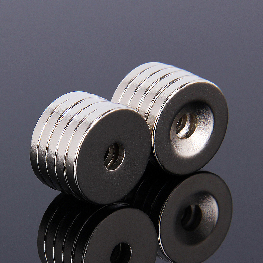 10pcs N35 Strong Ring Round Magnets Rare Earth Neodymium Circular Permanent Magnet Super magnetic 20 x 3mm 5mm Hole