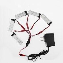 5pcs 3.7V 600mAh Drone Rechargeable Li-polymer Battery 701855 + Charger Set For RC UDI RC u817 u817a u817c u818a Syma s032