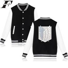 LUCKYFRIDAYF 2017 Attack On Titan Baseball jacket Men Women Sweatshirts For Funny Anime Cartoon Jackets Men