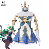 ROLECOS Brand New Arrival Game LOL Cospaly Costumes Star Guardian 2017 The Starchild Soraka Cosplay Costume
