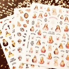 CA-126-148-149-194-195-208 FLOWER 3d nail art stickers decal template diy tool decorations