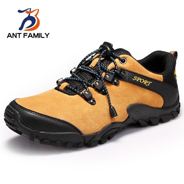 Модный Бренд На Открытом Воздухе Спортивная Обувь Мужчины 2016 Новый Натуральная Кожа прогулки Повседневная Обувь Мужской Узелок Квартиры Обувь Zapatos Де Hombre
