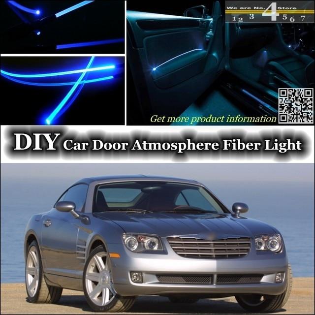 voor chrysler crossfire interieur omgevingslicht tuning sfeer glasvezel band lichten binnen deur panel verlichting tuning