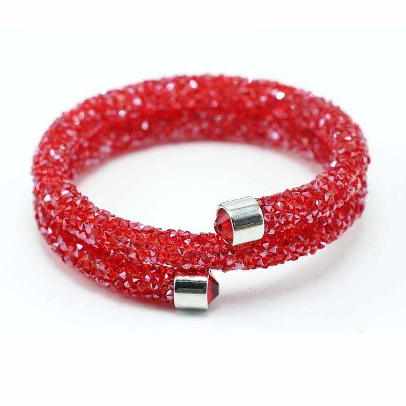 LE ciel exquis cercle unique cristal strass manchette multi-couche Bracelet bracelets pour les femmes nouveau mode bijoux cadeau Bracelet