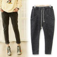 Женская плюс осенью и зимой большой размер женщин хлопка брюки гарем брюки 5xl