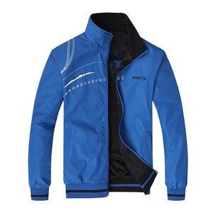Image 1 - Erkek ceket yeni bahar sonbahar spor giysileri standı yaka spor çift yan aşınma palto erkek eşofman artı boyutu 5XL 6XL