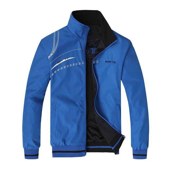 Erkek ceket yeni bahar sonbahar spor giysileri standı yaka spor çift yan aşınma palto erkek eşofman artı boyutu 5XL 6XL