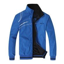 Männer der Jacke Neue Frühling Herbst Sport Kleidung Stehkragen Sportswear Double Side Tragen Mäntel Männliche Trainingsanzug Plus Größe 5XL 6XL