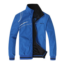 Mens Jacket New Spring Autumn Sports Clothes Stand Collar Sportswear D