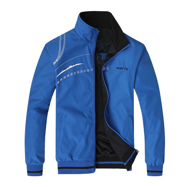 Men's Jacket New Spring Autumn Sports Clothes Stand Collar Sportswear Double Side Wear Coats Male Tracksuit Plus Size 5XL 6XL