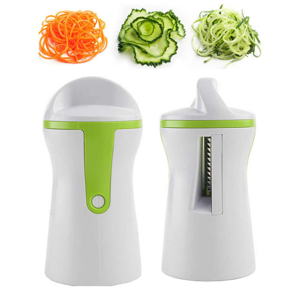 Spiral Funnel Vegetable Grater ABS+Stainless Steel Carrot Cucumber Slicer Chopper Vegetable Spiral Blade Cutter