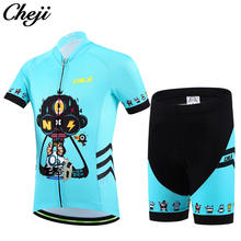 9113abb05 CHEJI Kids Cycling Jersey Shorts Fluorescent Pink Children Boys Girls  Bicycle Wear Breathable quick-drying