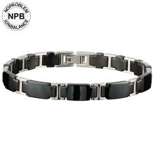 Noproblem 065 3000 ions balance ceramic beads power therapy choker punk fitness tourmaline germanium charms men's bracelet(Hong Kong,China)