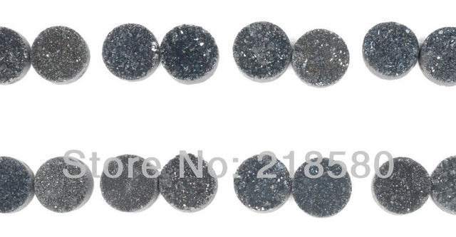 H-DCB01 25pcs Grey Silver Round Calibrated Drusy Druzy Cabochon Beads 8mm 10mm 12mm 14mm 16mm 18mm 20mm 25mm 30mm