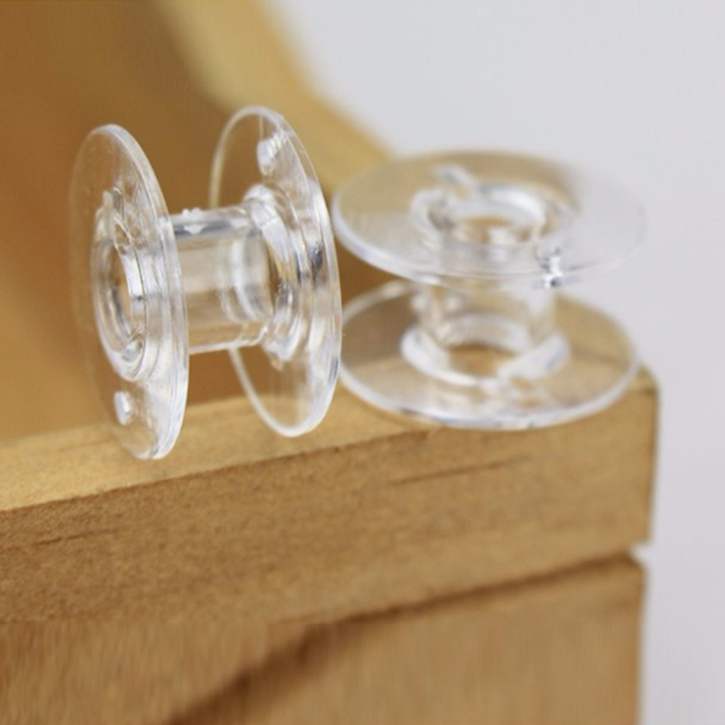 25 Clear Plastic SEWING MACHINE BOBBINS Fit For Singer Brother Janome Toyota