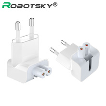 Wall AC Detachable Electrical Euro EU Plug Duck Head Power Adapter for Apple iPad iPhone USB Charger MacBook cheap Robotsky Travel A C Source Wall AC Detachable Electrical Head Power Adapter 100-240V 0 15A Only duck head not the whole charger