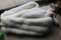 White fox шкура меха большие размеры натуральным лисьим мехом кожи