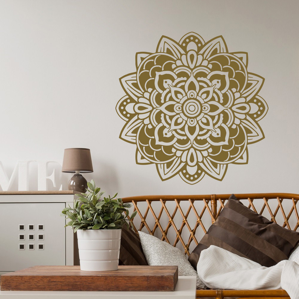 Religious Series Decoration Art Wall Stickers Mandala Flower Beauty Pretty  Patterned Art Wall Decals Mural Home Room Decor W 456 In Wall Stickers From  Home ...