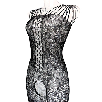 Sexy Much-loved Floral Motif Mesh Body Stockings