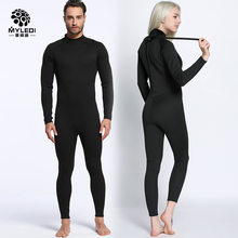 2426f4fecbddb Lovers 2MM Black Wetsuit Siamese Surf Clothing Anti Cold Waterproof Outdoor  Beach Swimsuit Diving Suit Size