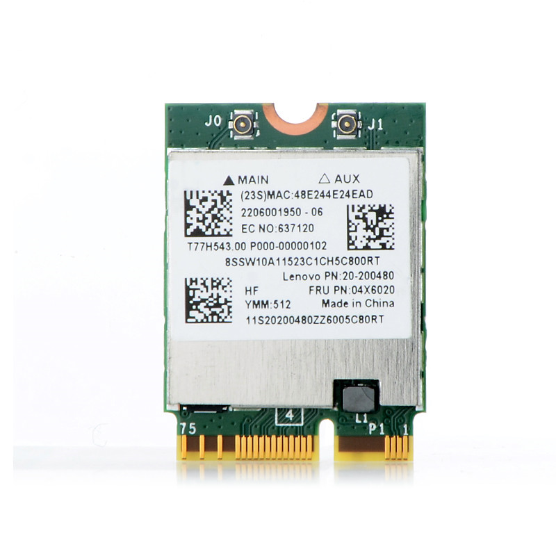 Laptop Wireless Network Card 867Mbps BT4.0 for BCM94352Z M.2 NGFF 802.11AC for Lenovo FRU 04X6020 Hackintosh S0P54
